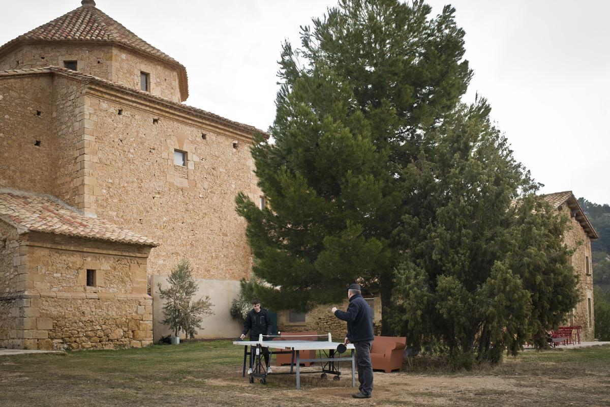 La casa del ermitaño alberga el comedor, la biblioteca y el 'lobby'.