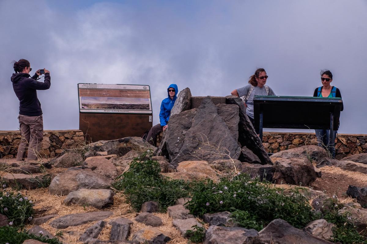 La Gomera: Alto de Garajonay, el punto más alto de la isla. Foto: Hugo Palotto