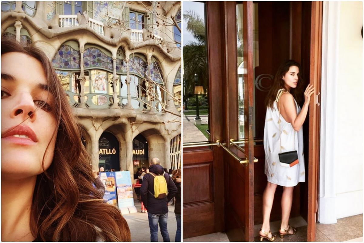 Adriana Ugarte ante la casa Batlló, en Barcelona