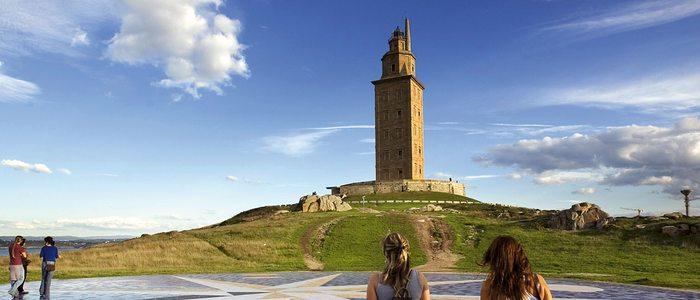 Vista de la Torre de Hércules.