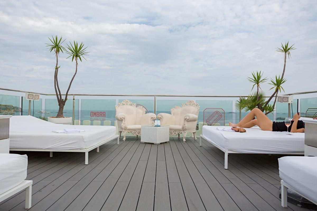 Vistas desde la terraza del hotel Es Viver (Ibiza).