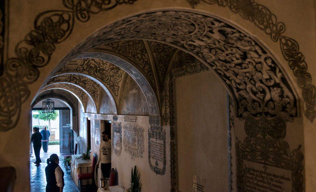 Las pinturas restauradas, la joya del convento