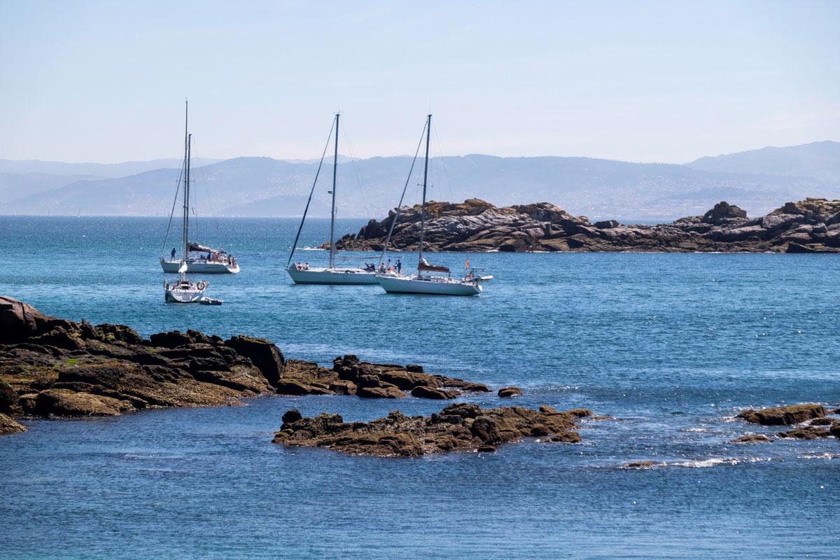 La Isla Sur o de San Martiño es la menos visitada porque a ella solo se puede llegar en barco privado.