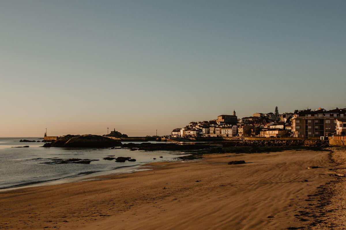 Vistas del pueblo gallego de Palmeira.