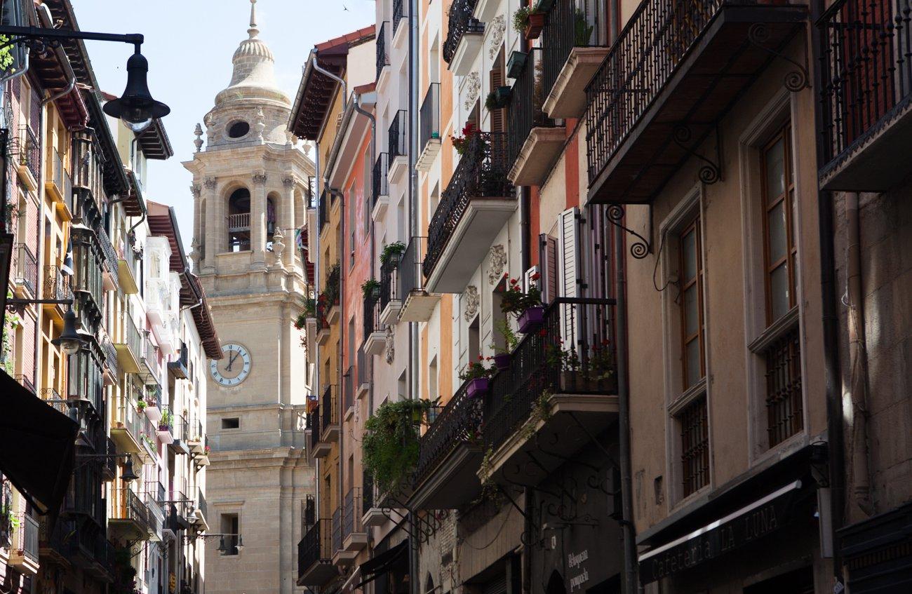Pamplona - Campanario de la catedral (portada)