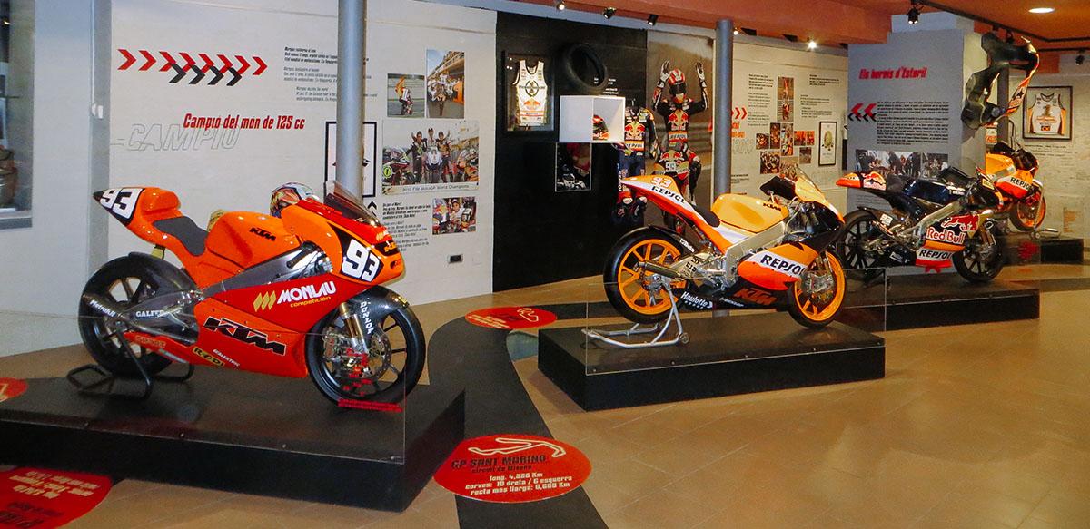 Un museo de Cervera acoge las motos de Márquez