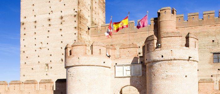 Detalle exterior del Castillo de la Mota.