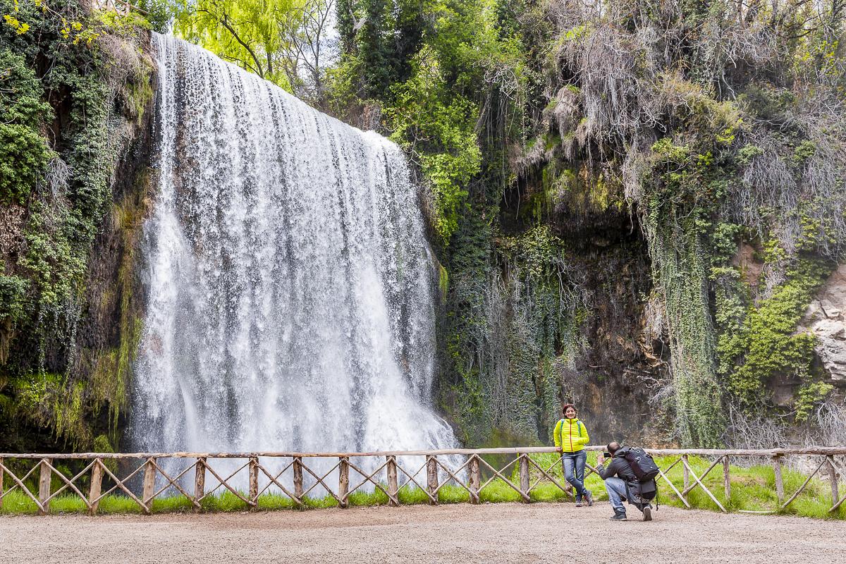 La Caprichosa es una de las cascadas más imponentes del parque. Con leyenda incluida.