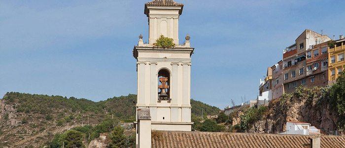 Campanario de la iglesia de San Pedro en Bunyol.
