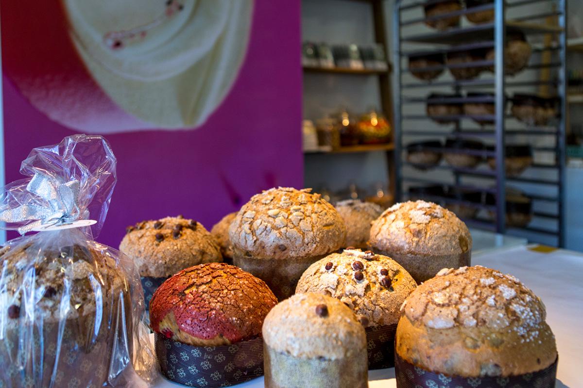 Diferentes tipos de panettones de la pastelería 'Dolç'.