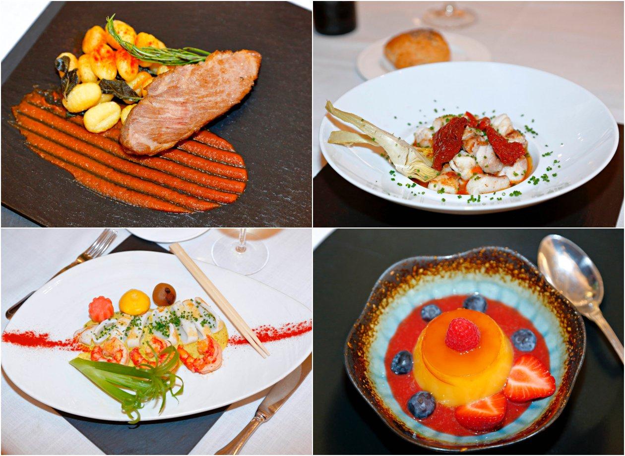 Viridiana: platos y postre