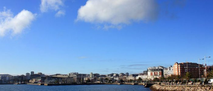 View of A Coruña from the promenade.