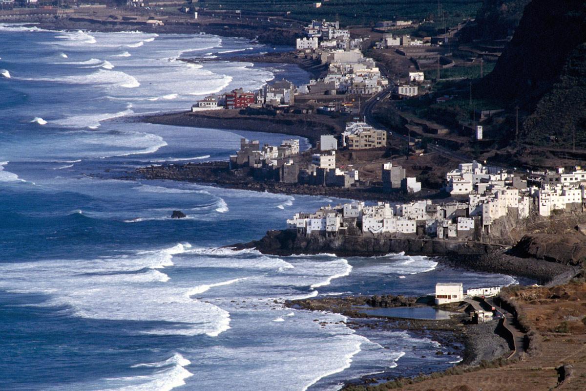 Imagen de la costa de Gáldar