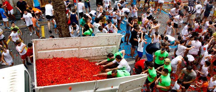 La Tomatina Infantil. /Foto cedida por: Ayuntamiento de Buñol.