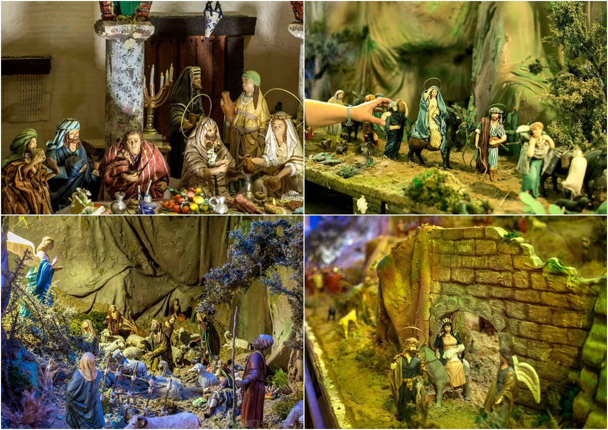 Los Desposorios de Jesús y María, la caravana de empadronamiento, la Anunciación a los pastores y la huida a Egipto.