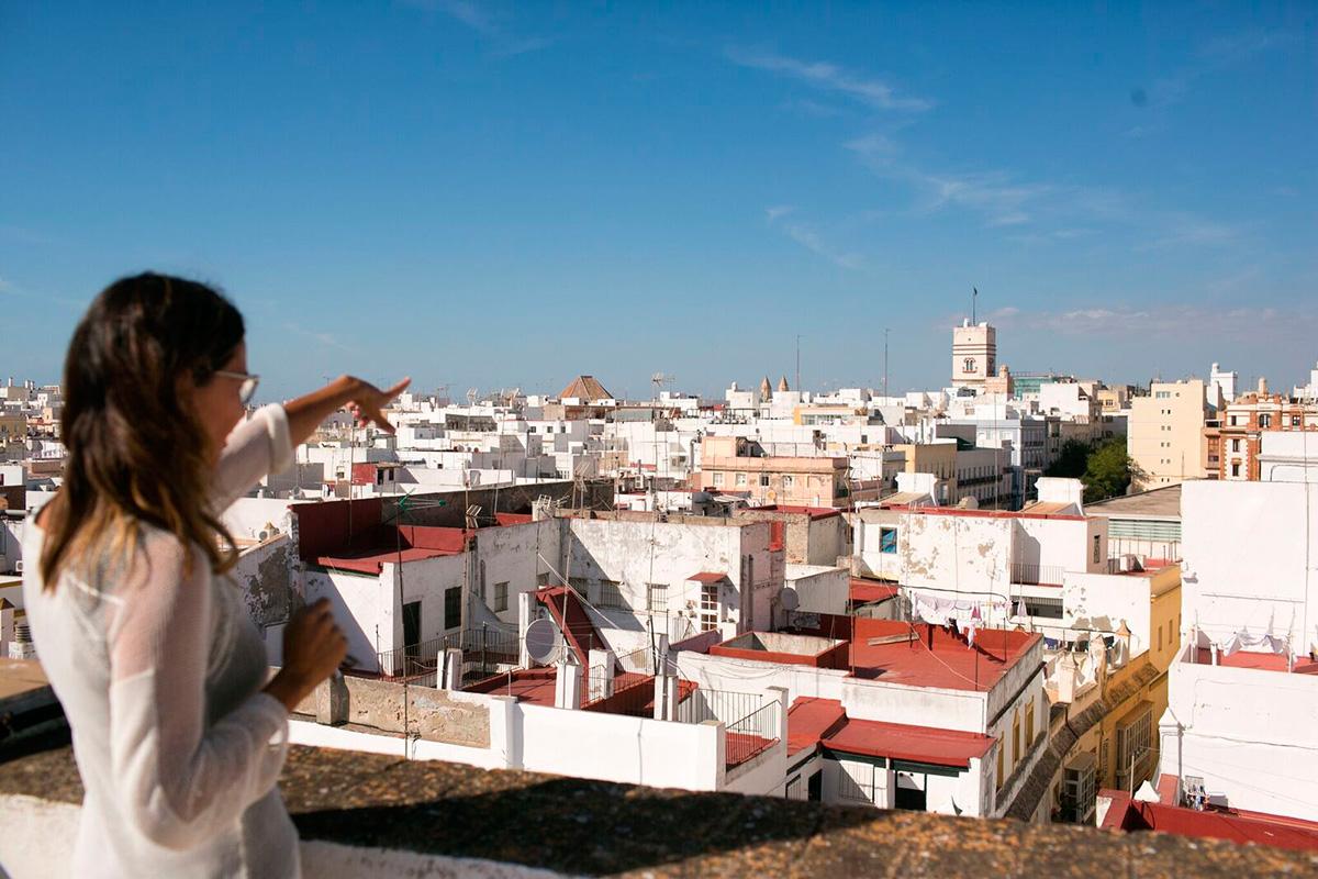 Desde aquí, Cádiz a tus pies. Foto: Juan Carlos Toro.
