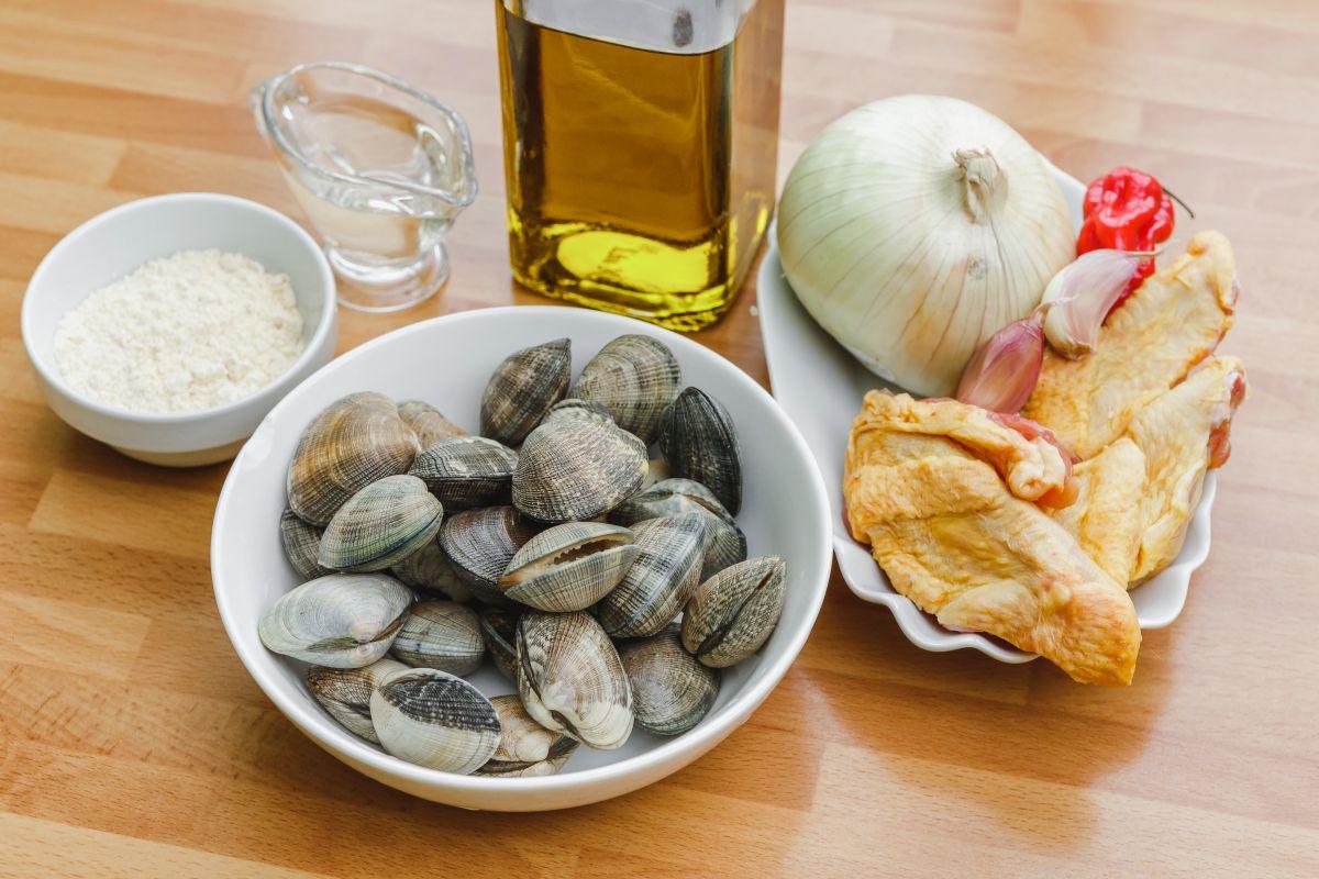 Ingredientes del plato Don Frango foi à praia