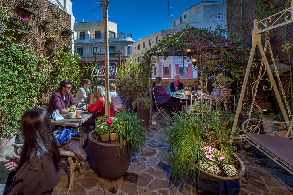 Con vistas a la calle Montera, este Jardín ofrece un espacio alejado del bullicio de las calles