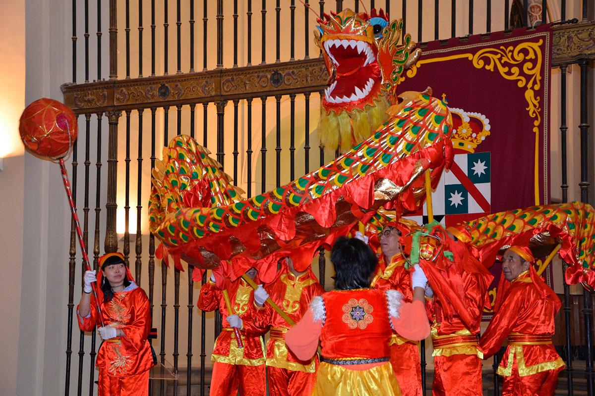 La Mancha no se queda atrás en el festejo chino. Foto: Instituto Confucio de la Universidad de Castilla-La Mancha.