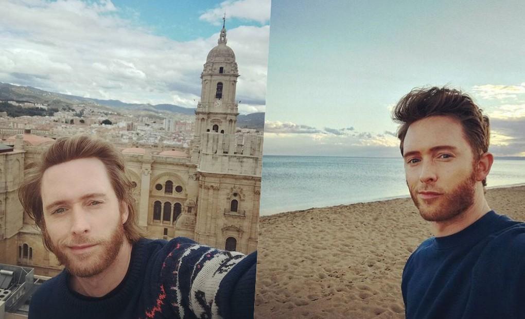 Con Málaga al fondo y en la playa de Denia. Foto: Instagram
