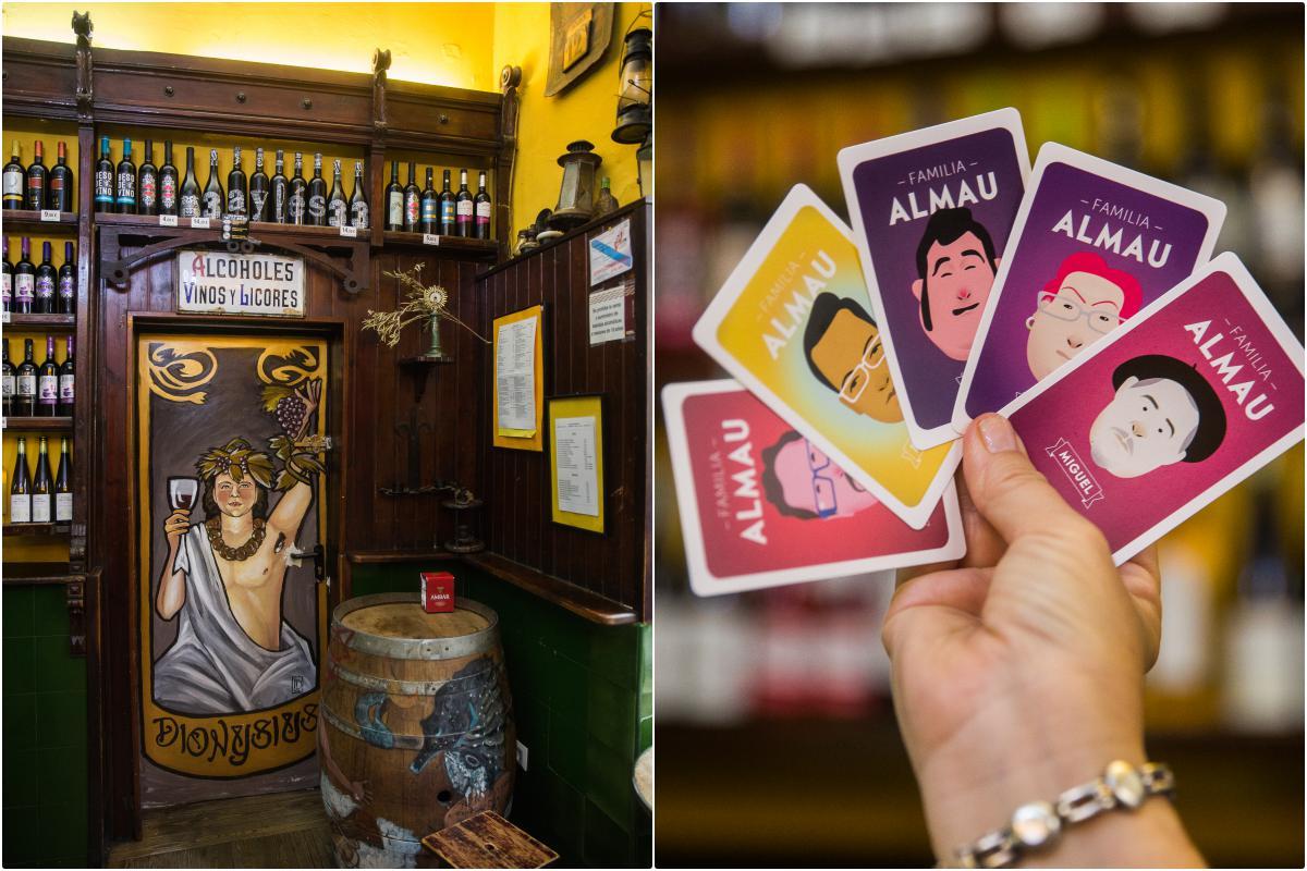 El Tubo, Zaragoza: Montaje de 'Bodegas Almau'. Foto: Raquel Jiménez
