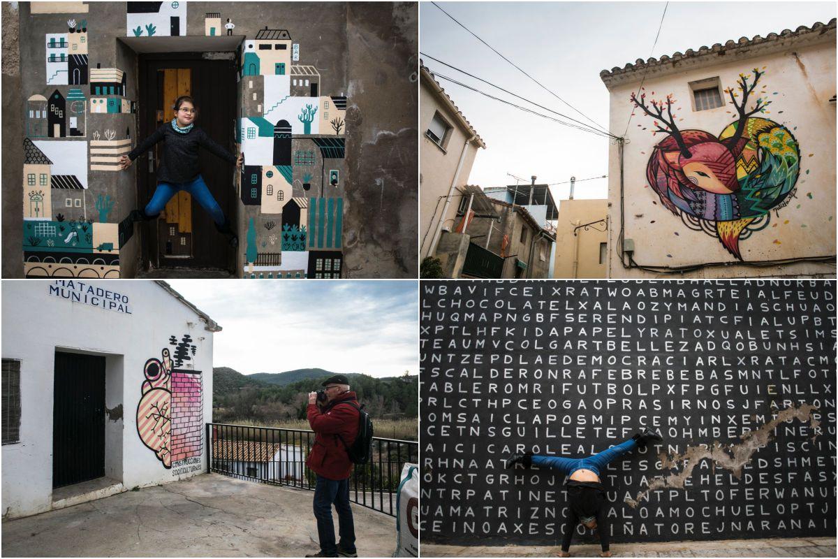 Murales en puertas, ventanas, espacios municipales y particulares... La ilustración del cervatillo es de Julieta XLF.