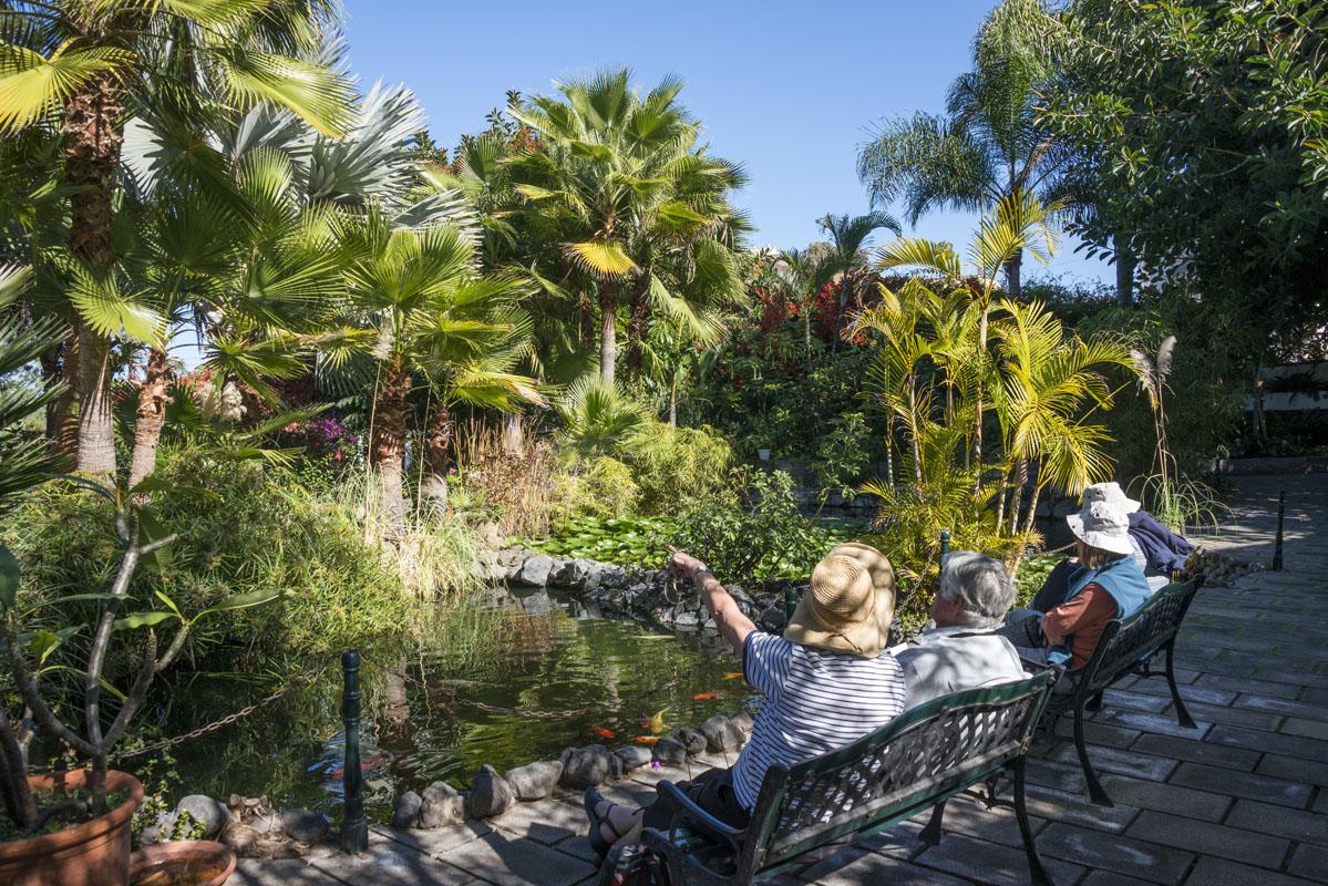 Los jardines de Sitio Litre, cada vez más apreciados por su paz y cuidados.