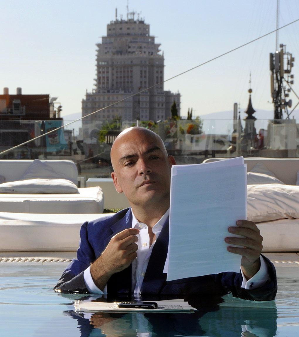 Kike Sarasola en uno de sus hoteles de Madrid. Foto cedida por Room Mate.