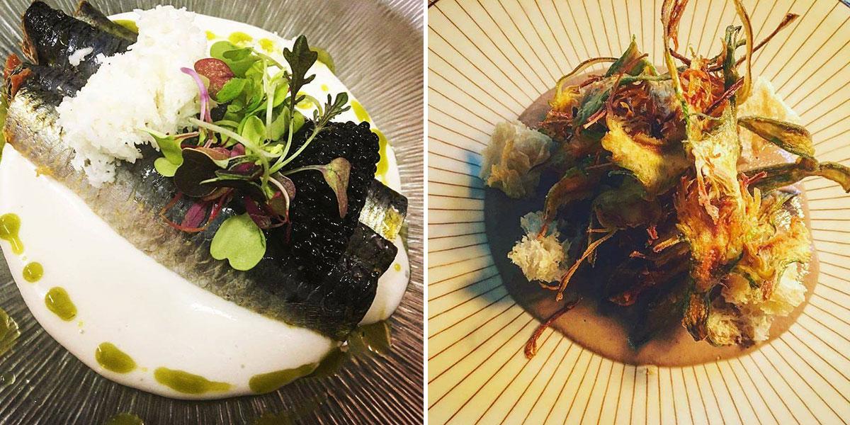 Sardina marinada y verduras de invierno del restaurante 'La Clandestina'. | Facebook 'La Clandestina'