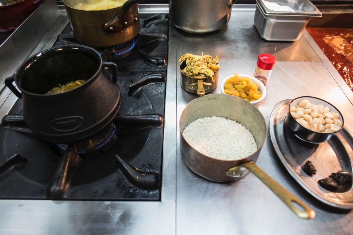 Los ingredientes para esta receta tradicional, listos en la cocina.