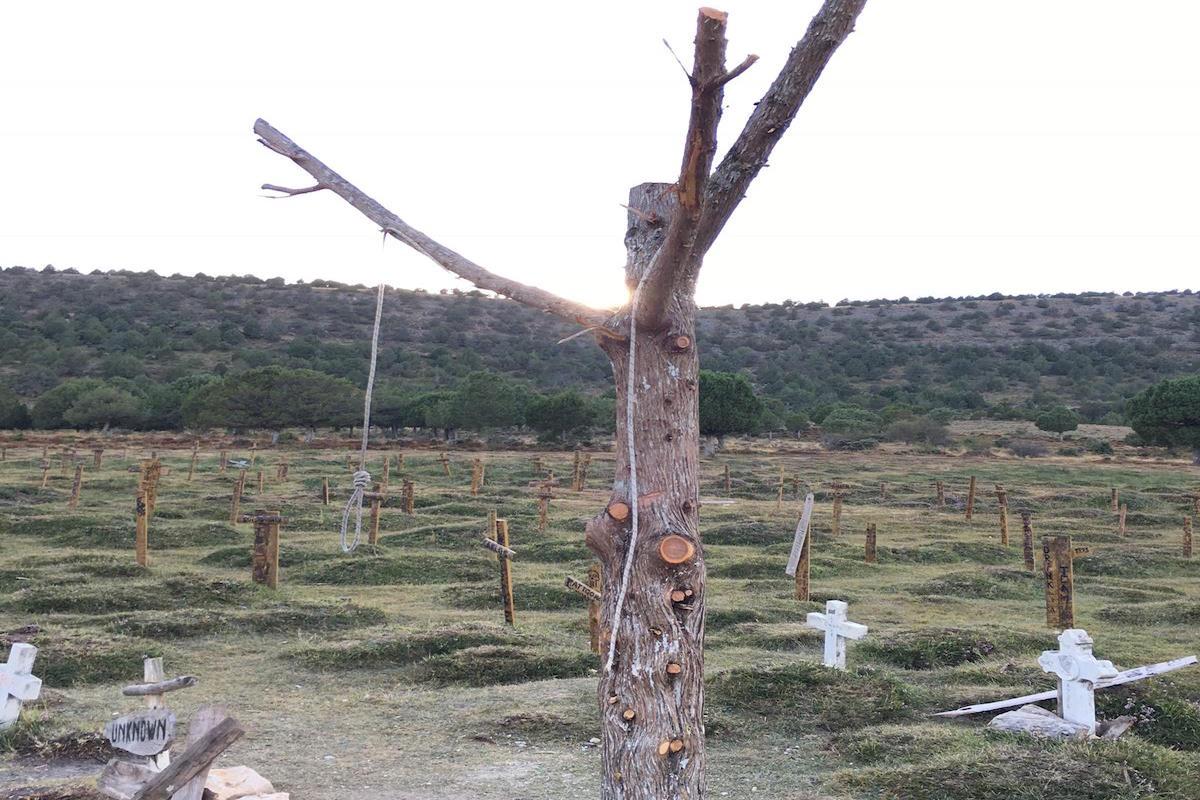 Escenario del cementerio de Sad Hill restaurado. Foto: Félix Ortega.