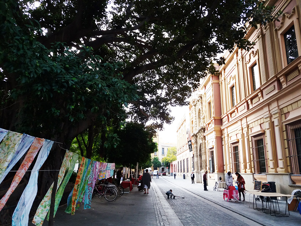 De paseo por el mercadillo. Foto: Mamadú Dabó.
