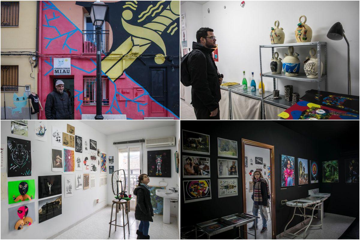 """En el """"consultorio"""" de MIAU, un antiguo consultorio médico reconvertido en galería y tienda de arte."""