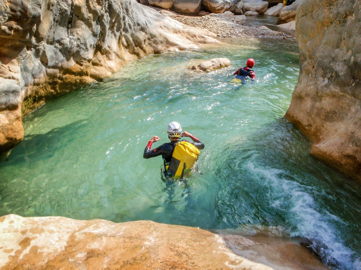 La Sierra de Guara es un buen sitio para iniciarse en el barranquismo. Foto: Shutterstock.