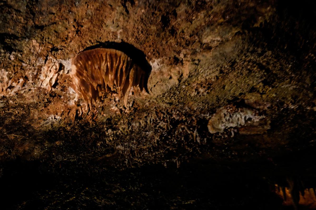 Esta estalactita, conocida como La Medusa, es una de las más peculiares de la caverna.