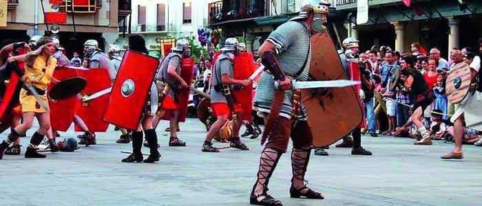Recreación batalla medieval.