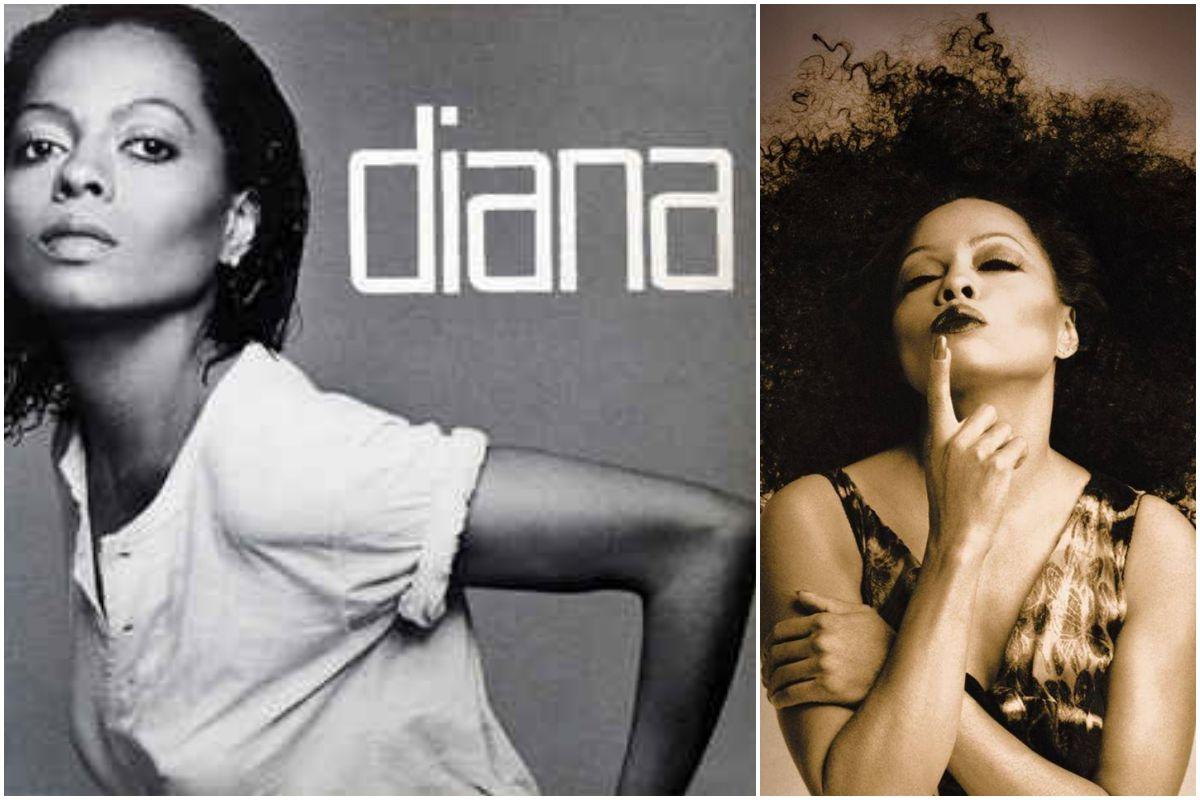 Portada del disco de Diana Ross y foto actual de la artista.