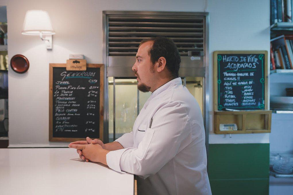 Miguel Ángel Manzanares, segundo de cocina de 'La Cosmopolita'.