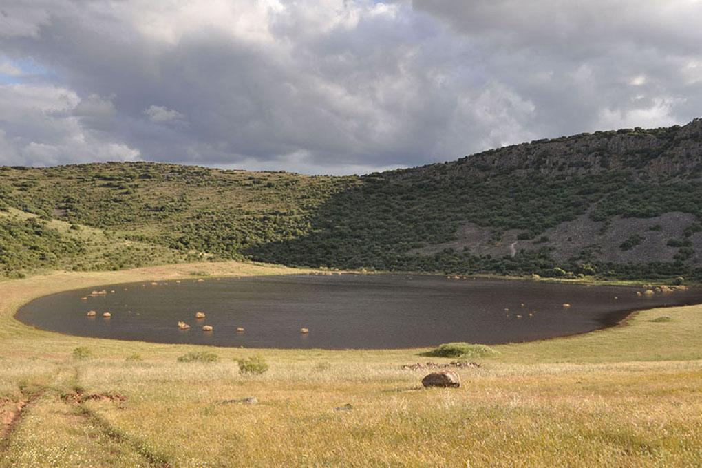 Laguna de la hoya de Cervera, en el municipio de Almagro.