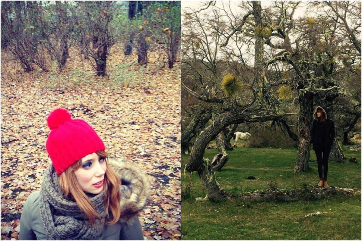 La artista disfruta como una niña cuando viaja a la naturaleza. Fotos: Instagram