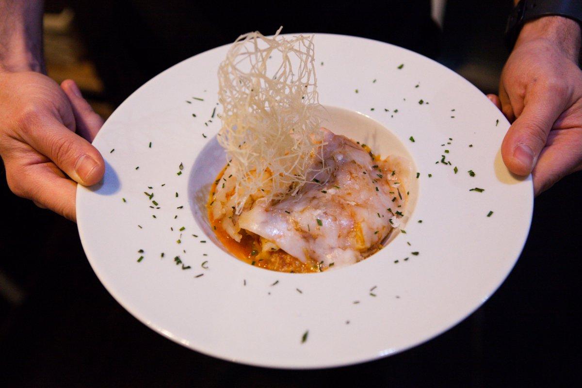 El bacalao al ajoarriero, otro de los típicos de la cocina navarra.