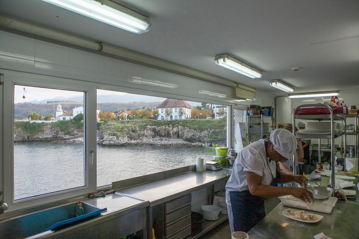 Trabajar en una cocina con estas vistas... ¡Maravilla!