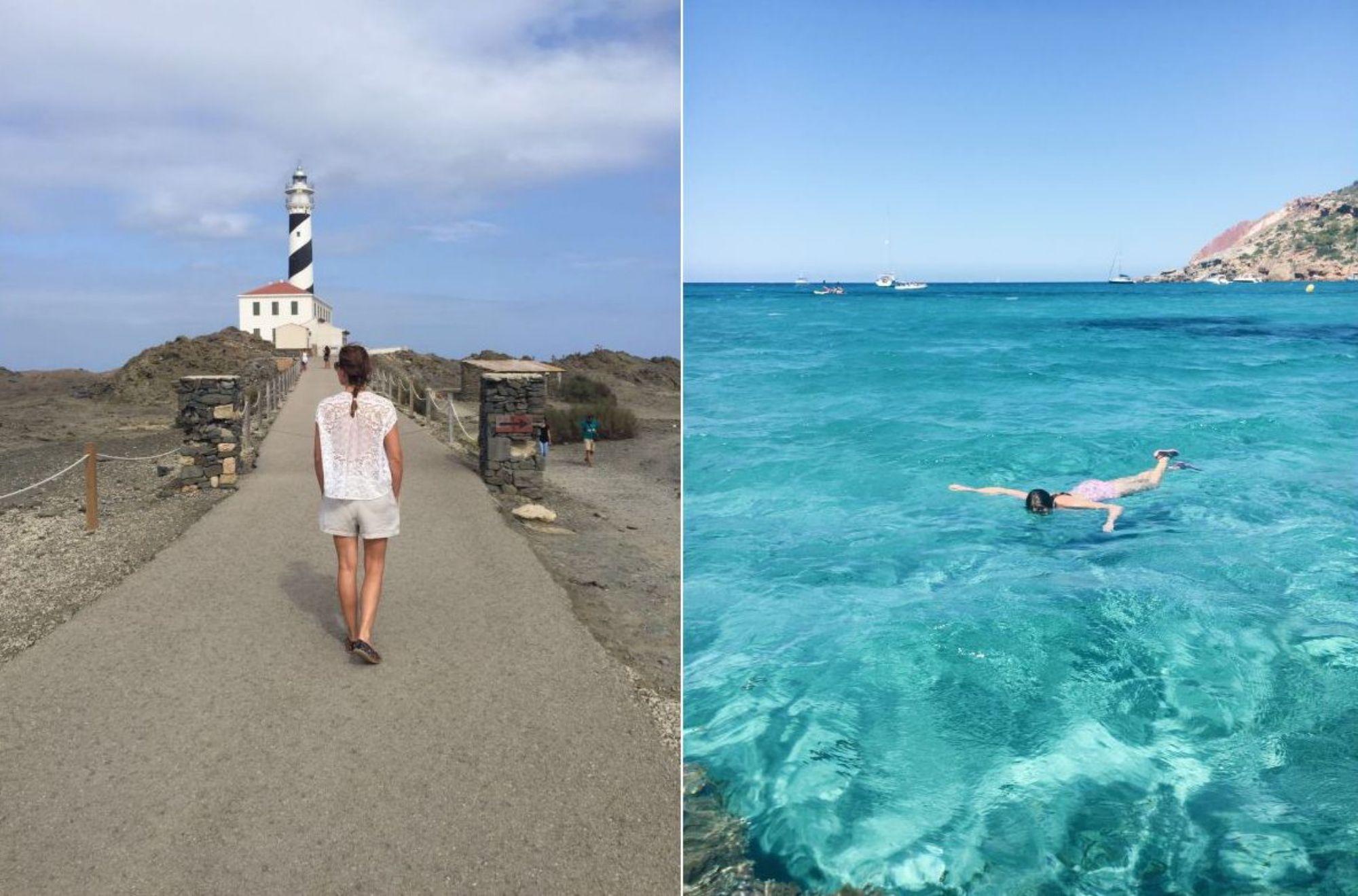 Menorca es otro de esos lugares que las enamora y a donde, cada vez que pueden, se escapan. Foto: Três Studio.