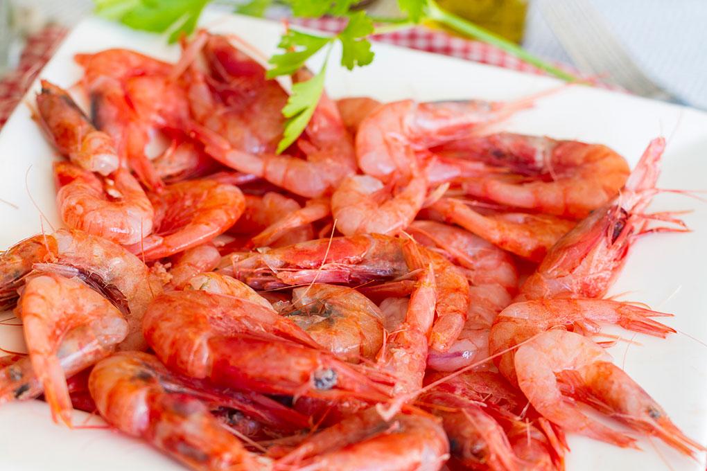 Las gambas blancas de Huelva, una delicia. Foto: Shutterstock.