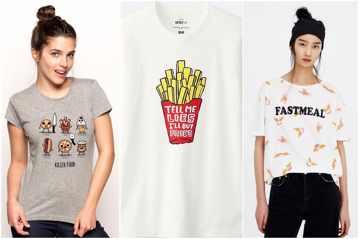 La comida basura es ya un icono de moda (Pumpling.com, Uniqlo y Pull&Bear)