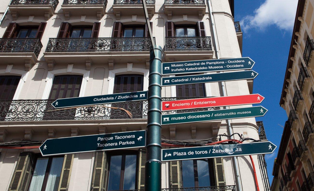 Pamplona - Señalización de recorridos de encierros
