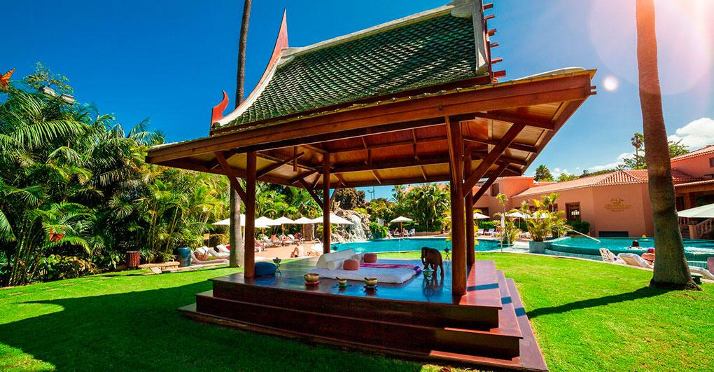 El circuito aguas de este hotel botánico es un auténtico lujo asiático. Foto: The Oriental Spa Garden.