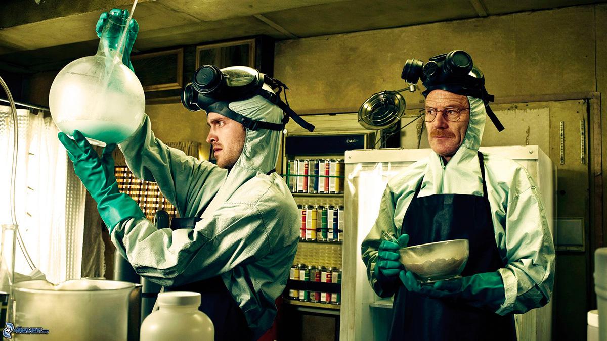 Los protagonistas de 'Breaking Bad' no cocinaban comida precisamente.