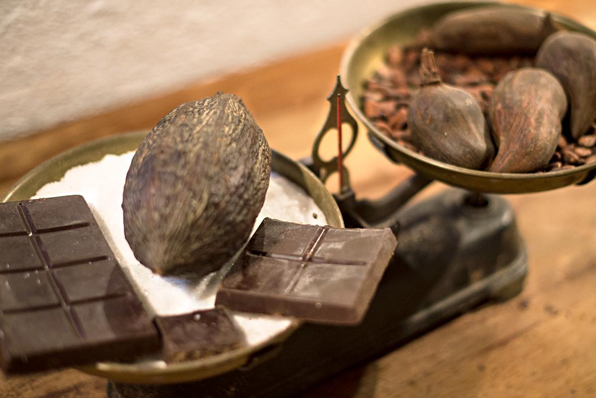 En la fábrica de chocolates Mendaro, Guipúzcoa.