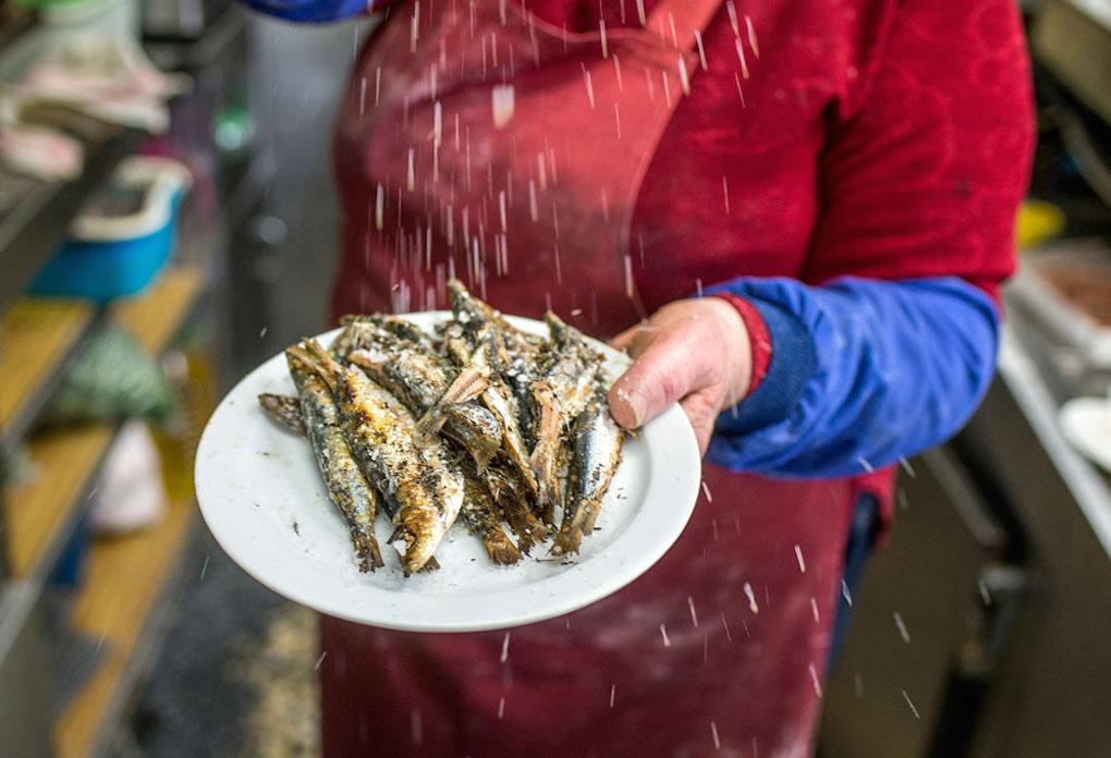 Las sardinas del Bar Santurce, deliciosas.
